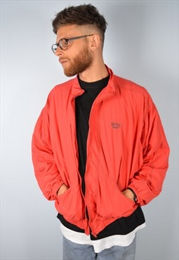Mens Vintage Tracksuit Top Festival Jacket XXL Red 90's