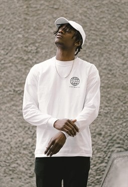 Global Long Sleeved T-Shirt - White