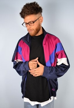 Mens Vintage Tracksuit Top Festival Jacket Large 90's