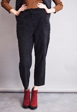 80's goes 70's real leather suede minimalist short trousers