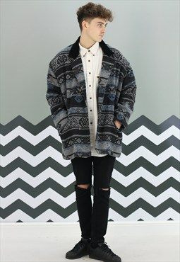 Vintage Winter Aztec Coat X-423