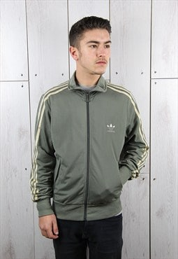 Vintage 1990s Green & Gold ADIDAS Sports Track Jacket (S)