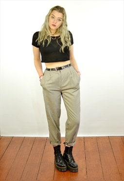 Vintage 80's High Waisted Tapered Trousers