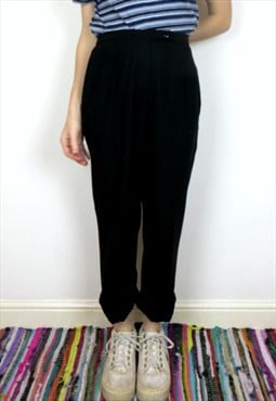 Vintage Black Normcore High Waisted Trousers