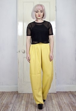 Vintage mustard yellow trousers VA1260