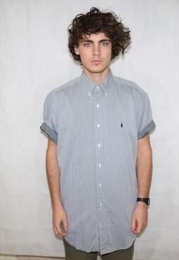 Vintage Grey Ralph Lauren Oxford Shirt