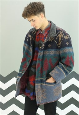 Vintage Winter Aztec Coat X-389