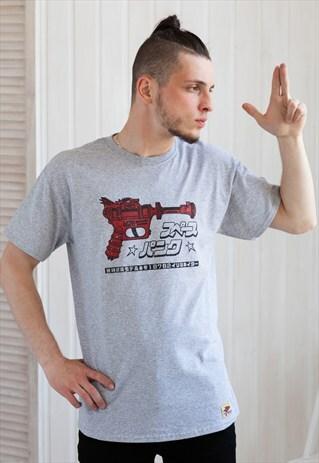 JAPANESE SHIRT - RAY GUN / BLASTER T SHIRT - RETRO KAWAII