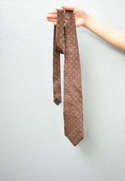 Vintage 90's retro abstract oriental print shimmer tie