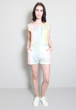 Vintage 1980's Multi Coloured Pastel Playsuit