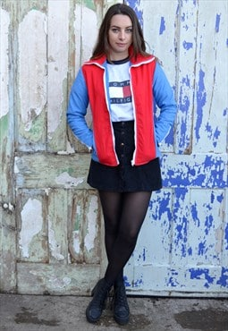 70s Vintage Blue and Red Ski Jacket