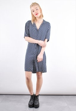 90s Grunge Vintage Polka dot Pattern Playsuit