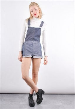 90s Vintage Denim Dungarees Playsuit