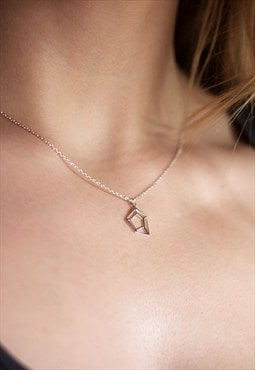 Sterling Silver Small Geometric Necklace