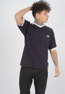Vintage Puma V Neck T-Shirt