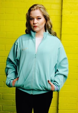 Vintage 90s Green Asics Retro Sports Zip Up Track Jacket