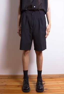Black Minimal Japanese School Boy Shorts BNWT