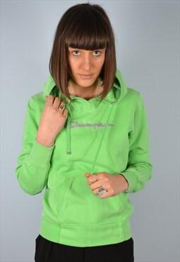 Champion Womens Vintage Hoodie Sweatshirt Medium 90's