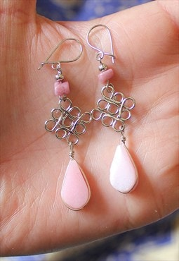 Peruvian Rose Quartz Gemstone Earrings