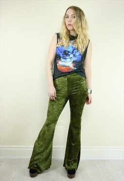 Olive Green Bell Bottom Flares