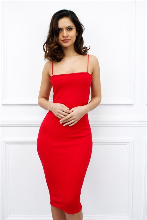 Glamzam Red Strappy Dress