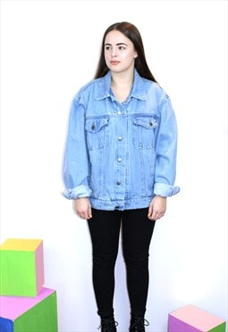 Wrangler 80s light Blue Vintage Denim Jacket Oversized