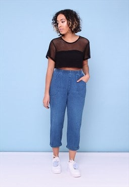 Vintage 90s Denim Tapered Trouser 2445358