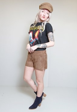 Vintage 1970's Soft Brown Suede Shorts