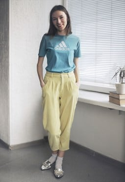 Vintage Yellow Corduroy Trousers