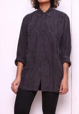Vintage 90s Oversized Silk Shirt