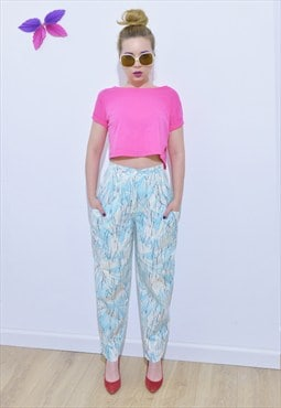 Vintage high-waisted 80's style baggy trousers