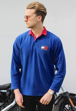 Tommy Hilfiger Electric Blue USA Rugby Top