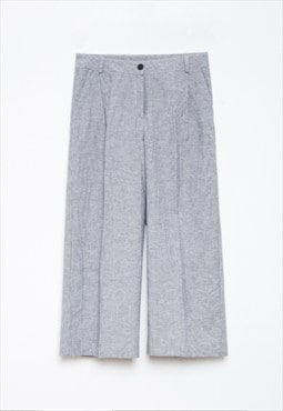 Linen grey trousers with matching jacket