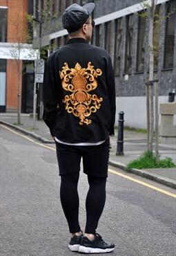 Vintage Silky Ornate Pattern Shirt