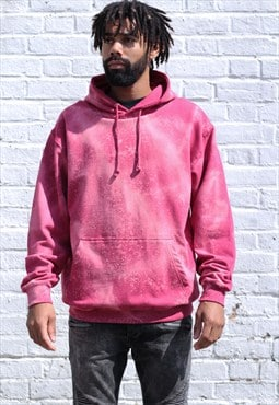 NEW IN - Acid Wash Effect Retro Cranberry Hoodie