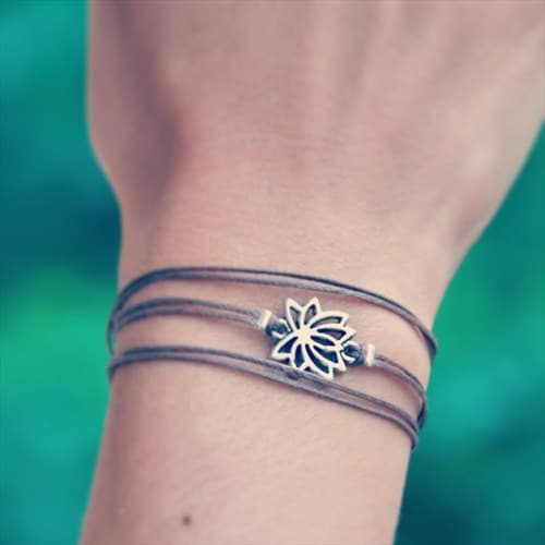 wrapped Lotus bracelet