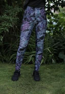 Vintage 80's Multicolor Patterned Leggings