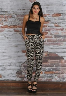 Aztec Print Tailored Trousers