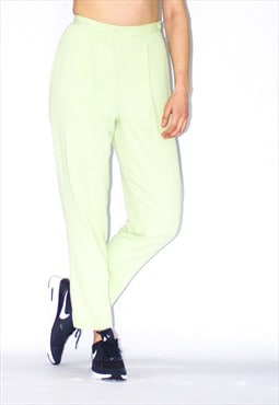 Vintage 80's Mint Green Tapered Ski Pants
