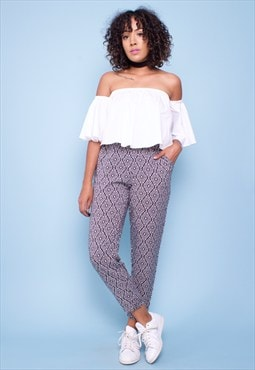 Vintage 90s Print Trousers 260775