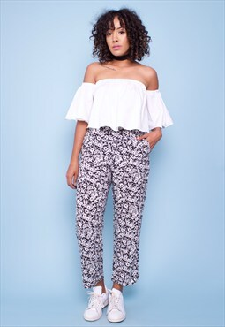 Vintage 90s Print Trousers 260774