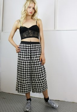 Dog's Tooth Crop Pants