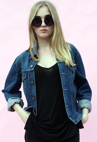 VINTAGE 80' BLUE DENIM JACKET