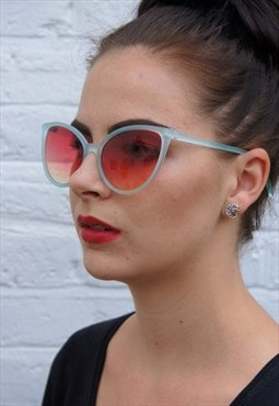 Large cats eye sunglasses