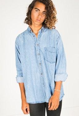 Vintage 80s Wrangler denim shirt / R354