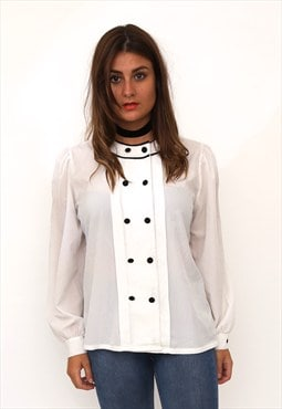 Vintage 80s Monochrome Button Shirt