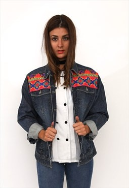 Vintage 90s Reworked Embellished Denim Jacket