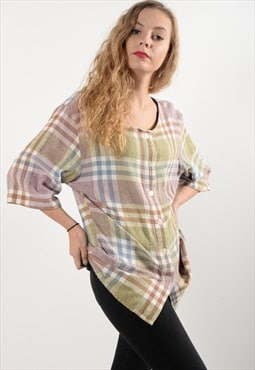 Flannel Checked Tunic (5422)