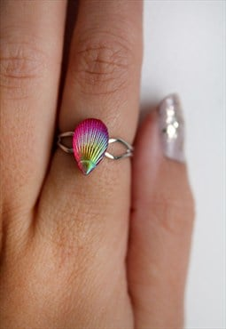Pink Shell Ring