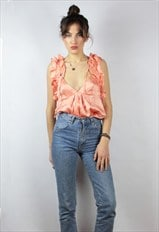 Silk Imperial salmon pink top